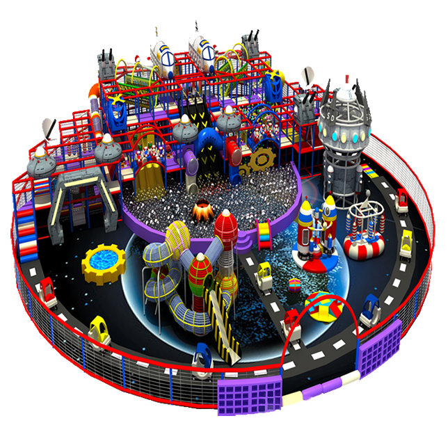 Come and take an adventure in the Space Station Themed indoor playground! It is filled with a great deal of space station themed entertaining attractions, including a majestic pirate ship, a mysteriou